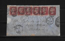 1867 GROSSBRITANNIEN → Brief London Nach Cape Otway Victorai/Australien  ►RAR◄ - Afrique Du Sud (...-1961)