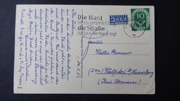 Germany - Die Hast Ist Ein Gefährlich Ding, Die Straße Ist Kein Nürburgring - Mi:DE 128 On Postcard O - Look Scans - BRD
