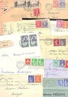 FRANCE MARCOPHILIE AFRANCHISSEMENTS COMPOSES SUR LETTRES AVANT 1960  LOT DE LETTRES 800 GRAMMES - Lots & Kiloware (mixtures) - Min. 1000 Stamps