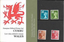 Timbres Neufs** De Grande Bretagne, N°776, 779, 809, 842 Yt ,série Courante, , Régionaux, Pays De Galles, Wales, Dragon - Neufs