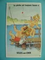 ST/110- 41 - SELLES/CHER- Pêcheur Amateur - Selles Sur Cher