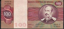 BRAZIL P195e ?? = TBB816c 100 CRUZEIROS 1974 #A02518  WATERMARK = WIDE COLLAR ! Signature Simonsen/Pereira Lira UNC. - Brésil