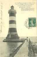 LOIRE INFERIEURE - Dépt N° 44 = LE CROISIC A NANTES 1911 =  CACHET MANUEL  CONVOYEUR + CPA PHARE De La BRANCHE - Marcophilie (Lettres)