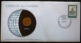 Argentina  -  Argentine  -  Argentinië     Numisletter Coin 50 Centavos 1975  Stamp Mi Nr 1370 1978 - Argentine