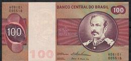 BRAZIL P195e ?? = TBB816c 100 CRUZEIROS 1974 #A06101  WATERMARK = WIDE COLLAR ! Signature Simonsen/Pereira Lira UNC. - Brésil