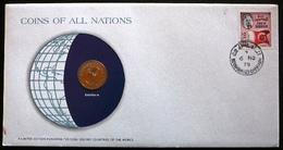 Bahrain  -  Bahrein         Numisletter Coin 50 Fils  1965  Stamp  1976 - Bahreïn
