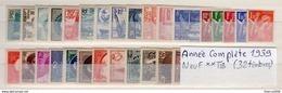 Année Complète 1939  N° 419 à 450  Neuf ** Gomme D'Origine à -15% De La Cote  TTB - France