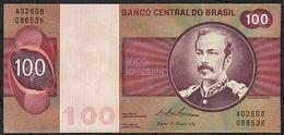 BRAZIL P195e ?? = TBB816c 100 CRUZEIROS 1974 #A02608  WATERMARK = WIDE COLLAR ! Signature Simonsen/Pereira Lira UNC. - Brésil