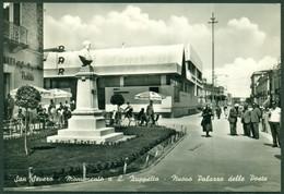 CARTOLINA - FOGGIA - CV1844 SAN SEVERO (Foggia FG) Monumento A L. Zuppetta, Nuovo Palazzo Delle Poste, Viaggiata 1959, - Foggia