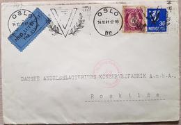 Norway Norge Oslo 1941 Luftpost Censored - Norwegen
