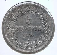 LEOPOLD I * 5 Frank 1848 * GELAUWERD * Fraai / Z.Fraai * Nr 9893 - 1831-1865: Léopold I