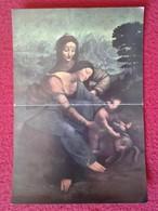 SPAIN ANTIGUO CROMO OLD COLLECTIBLE CARD O SIMIL 75 LEONARDO DA VINCI SANTA ANA VIRGEN VIRGIN Y EL NIÑO PARIS LOUVRE VER - Cromos