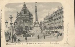 Bruxelles : Monument élevé à La Mémoire D'Anspach - Monumenten, Gebouwen
