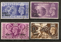 KUWAIT 1948 OLYMPIC GAMES SET SG 76/79 FINE USED Cat £17 - Kuwait