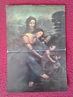 SPAIN ANTIGUO CROMO OLD COLLECTIBLE CARD O SIMIL 75 LEONARDO DA VINCI SANTA ANA VIRGEN VIRGIN Y EL NIÑO PARIS LOUVRE VER - Sin Clasificación