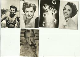 *5 X  FILM/Chromo *-ELIZABETH TAYLOR-BING GROSBY-MARIA MONTEZ-ESTHER WILLIAMS ( 2x ) - Photos