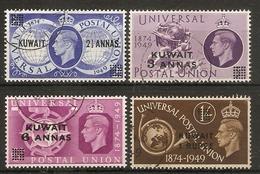 KUWAIT 1949 UPU SET SG 80/83 FINE USED Cat £13 - Kuwait