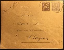 1875 Affranchissement Sage N°85 & 87 Tarif à 5c Papiers D'affaires TTB Conditions Enveloppe Non Fermée TTB - 1876-1898 Sage (Type II)