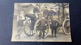 Carte Photo De Vincennes, 82° Rgt Artillerie Lourde, 62° Batterie, Gros Canon Avec Militaires - Vincennes