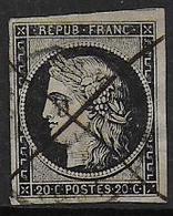 Cérès  - N° 3   - Oblitéré C.a.d. Et Plume - 1849-1850 Ceres