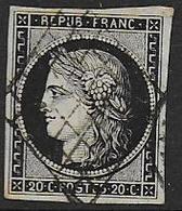 Cérès  - N° 3   - Cote : 65 € - 1849-1850 Ceres