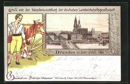 Lithographie Dresden, Wanderausstellung Der Deutschen Landwirtschaftsgesellschaft 1898, Katholische Hofkirche - Tentoonstellingen