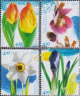 Estonia 457-460 (complete Issue) Unmounted Mint / Never Hinged 2003 Flowers - Estonia