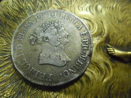 Italie - Lucques Et Piombino - E. Bonaparte Et F. Baciocchi - 5 Franchi 1805 ARGENT 90 % 25 Gr - Toscane Napoléonide - Monnaies Régionales