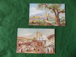 Postcard Israel: The Holy Land X2 Tiberias Art Tuck - Israele