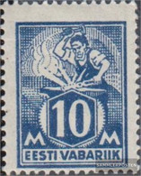 Estonia 39A Unmounted Mint / Never Hinged 1922 Clear Brands: Craftsman - Estonia