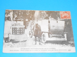 Militaria ) 1914 / 1918 - Auto Blindée : Photo Prise Sur La Route De Tirlemont   -  : EDIT: ELD - Guerre 1914-18