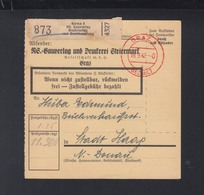Österreich Paketkarte 1942 NS-Gauverlag Graz - Briefe U. Dokumente