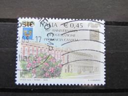 *ITALIA* USATI 2005 - 60° PROVINCIA CASERTA - SASSONE 2861 - LUSSO/FIOR DI STAMPA - 6. 1946-.. Repubblica