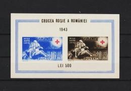 1943 - Croix-Rouge Mi Bl  20 - 1918-1948 Ferdinand, Carol II. & Mihai I.