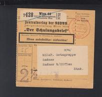 Österreich Paketkarte 1943 Zentralverlag Der NSDAP Wien Bezahlt - Briefe U. Dokumente