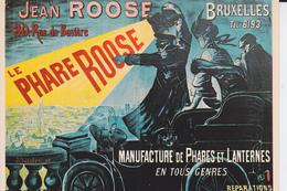 REPRODUCTION D'AFFICHE :  LE PHARE JEAN  ROOSE - Publicité