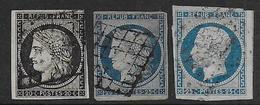 Cérès  - N° 3 Et 4 +Napoléon N° 10  - Cote : 175 € - 1849-1850 Ceres