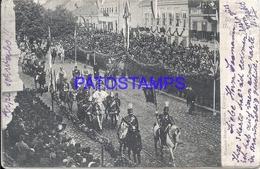 107193 SERBIA COSTUMES MILITARY IN PROCESSION YEAR 1904 POSTAL POSTCARD - Serbie