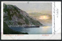 CARTOLINA CV2354 NORVEGIA NORWAY North Cape Horn And Midnight Sun, 1902, Viaggiata Per L'Italia, Formato Piccolo, Franco - Norvegia