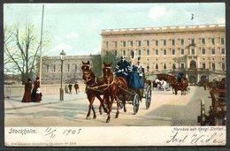 CARTOLINA CV2355 SVEZIA SWEDEN Stoccolma Stockholm, 1903, Viaggiata Per L'Italia, Formato Piccolo, Francobollo Asportato - Svezia