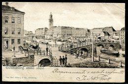 CARTOLINA CV2356 SVEZIA SWEDEN Göteborg In 1800, 1901, Viaggiata Per L'Italia, Formato Piccolo, Francobollo Asportato, B - Svezia