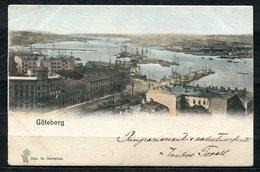 CARTOLINA CV2358 SVEZIA SWEDEN Göteborg, The Harbour, 1901, Viaggiata Per L'Italia, Formato Piccolo, Francobollo Asport - Svezia