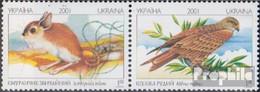 Ukraine 459-460 Paar (kompl.Ausg.) Postfrisch 2001 Tiere - Ukraine