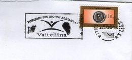 ITALIA ITALY TURISMO VALTELLINA TOURISM TOURISME FIAMMA FLAMME OBLITERATION CANCELLATION - Vacanze & Turismo