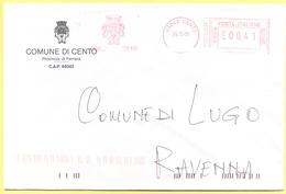 ITALIA - ITALY - ITALIE - 2002 - 00,41 EMA, Red Cancel - Comune Di Cento - Viaggiata Da Cento Per Lugo - Affrancature Meccaniche Rosse (EMA)