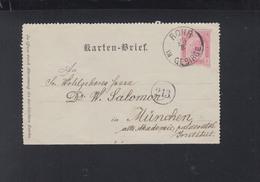 KuK Kartenbrief 1893 Rohr Im Gebirge - Briefe U. Dokumente