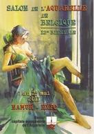 CP Pub. Peinture 2011 - Salon De L'aquarelle 12ème Biennale - Elpose De Stéphane Heurion, Namur Expo - Femme - Peintures & Tableaux