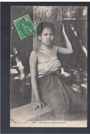 CAMBODGE - Une Femme Cambodgienne 1907 OLD POSTCARD - Cambodia