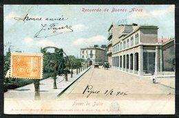 CARTOLINA CV2361 ARGENTINA Buenos Aires, Paseo De Julio, 1906, Viaggiata Per L'Italia, Formato Piccolo, Buone Condizioni - Argentina