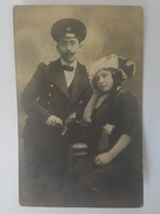 Judaica Russian Jewish Couple Train Engineer Uniform Real Photo Judaika - Ukraine